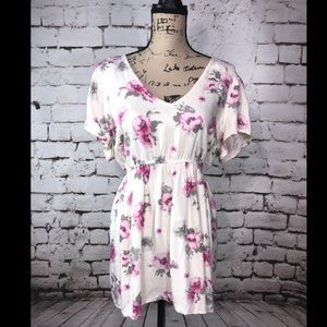 Torrid White and Pink Babydoll Top